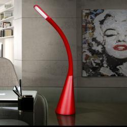 Lain Sobremesa LED 5W 11x55x20cm - Rojo mate