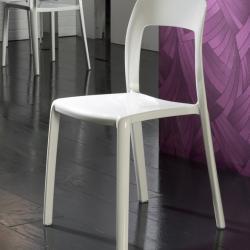 Lina silla blanca 84x46cm