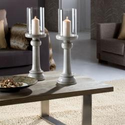 Mathis Candelero 62,5x18cm - Grey brillo lampshade Transparent glass