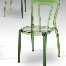 Mati silla Verde Transparente
