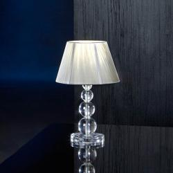 Mercury Table Lamp Small 1xE27 LED 10W 39x25cm - Chrome lampshade Silver
