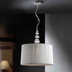 Mercury Pendant Lamp 55x50cm 3xE27 LED 10W - Chrome lampshade Silver