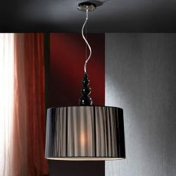 Mercury Pendant Lamp 55x50cm 3xE27 LED 10W - black bright black lampshade