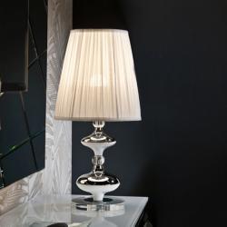 Oliver Sobremesa ø29 E27 LED 10W Cromado y blanco