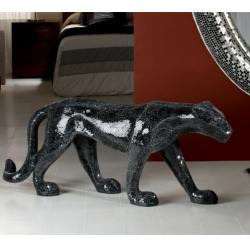 Pantera II Figura decorativa Cristal negro