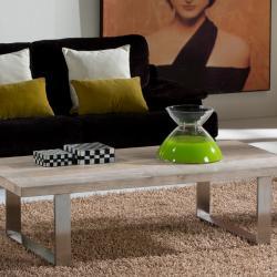 Pirena 200 mesa de comedor Acero y madera antigua