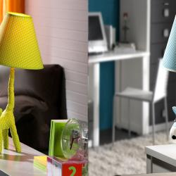 Puppy Perro Green Table Lamp
