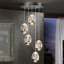 Rocio Lampe Suspension 5xLED 25W - Chrome