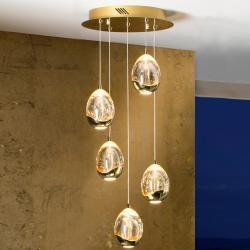 Rocio Lámpara Colgante 45x30cm 5xLED 25W - Oro
