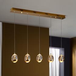 Rocio Lámpara Colgante 14x96cm 5xLED 25w - Oro