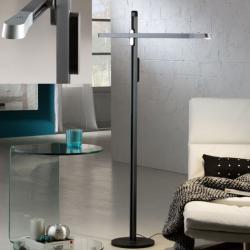 Tecton Lámpara de Pie 140x79cm LED 6W regulable - Gris zafiro