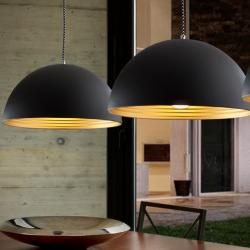 Tempo Lampe Suspension E27 20W noir mat