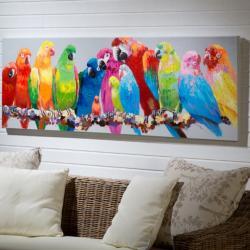 Tropic Cuadro 60x180cm Pintura Acrílica