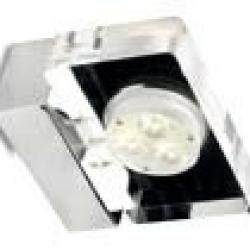 Dry LED Cromo trasp 3 1W 3000K