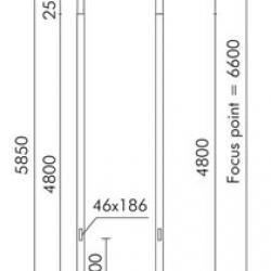 Slot candela Poste cilindrico ø121mm per incorporato con ø108mm di acoplamiento Grigio Alluminio