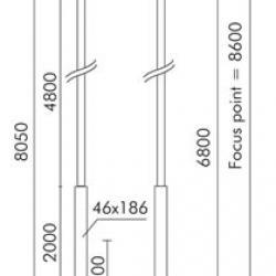 Slot candela ø 193mm ÷ ø121mm Poste cilíndrico per incorporato con ø108mm di acoplamiento