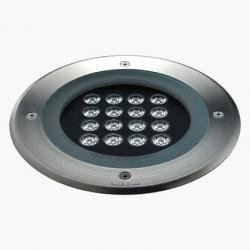 Compact Recessed suelo Round 370mm 16 Accent LED 3200k 24w 230v 22ú Stainless Steel