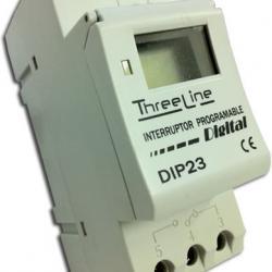 Interruptor Programador horario DIGITAL Carril DIN (2 mod)