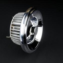 SERIE TG LED Lámpara tipo AR o QR, reflectora, Aluminio, ópt Transparente G53 1x15W