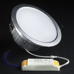 SERIE TG LED Downlight, Cuerpo Aluminio, óptica opal 2 PIN 18x 18W