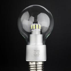 SERIE TG LED Bombilla óptica policarbonato Transparente E27 48x 6W