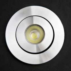 SERIE TG LED Downlight, Cuerpo Aluminio, óptica Transparente 2 PIN 1x1W