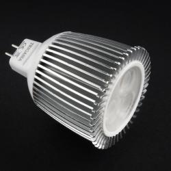 SERIE MG LED Lámpara tipo dicroica, Cuerpo Aluminio, óptica Transparente GU5.3 3x6W