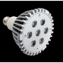SERIE TG LED Bombilla tipo PAR, Cuerpo Aluminio, óptica Transparente E27 7x 21W