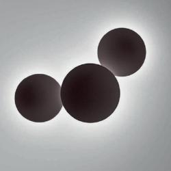 Puck Wall Art Wall Lamp Doble 2x2GX13 22w Lacquered Brown Oscuro