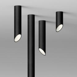 45º Tubo short ceiling lamp - Pavonado
