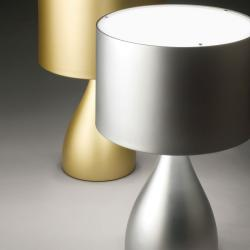 Jazz kleine Tischleuchte Silber lackiert