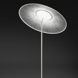Wind lámpara de Pie sombrilla empotrado blanco