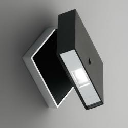 Alpha Wall Lamp Reading - Lacquered black matt and Chrome