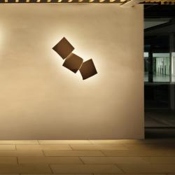Origami Wall Lamp triple - Lacquered Oxido