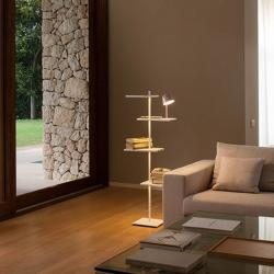 Suite Floor Lamp Large with light of Reading dimmable - Lacquered Brown ocuro mate