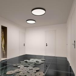 Up large ceiling 1 x plate LED 43w - Lacquered Graphite mate