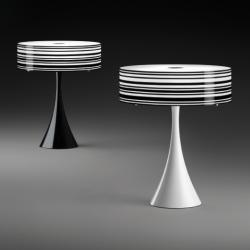 Code Table Lamp Lacquered Black