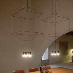 Wireflow Lámpara Colgante ø120cm 8xLED 4,5W dimmable (sin Difusor de vidrio) - Lacado negro