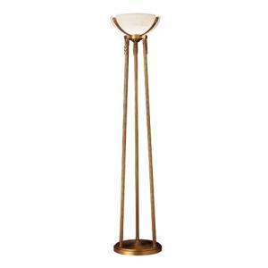 Imagen 1 de Sir Davenport lámpara de Pie Patine rojizo Alabastro blanco