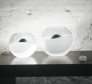 Imagen 1 de Oceana 30 Sobremesa Cromo ø35cm Cristal Transparente/blanco