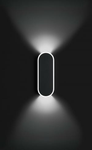 Imagen 1 de Alpha Aplique rectángulo Redondeado 2xLED 2,1W - Lacado blanco Mate y Cromo