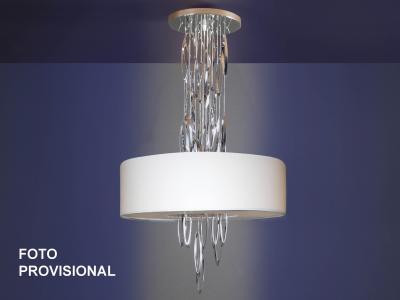 Imagen 1 de Domo Lámpara Colgante 4xE14 LED 4W 60 ø Cromo brillo + pantalla blanca