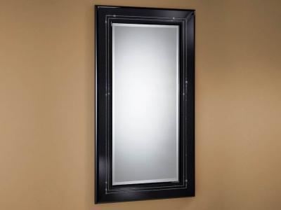 Schuller luxury espejo rectangular grande negro 71401046 for Espejo rectangular grande