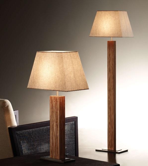 Bover Tau Lampada da terra Legno (Solo 3023932 - Lámparas de diseño