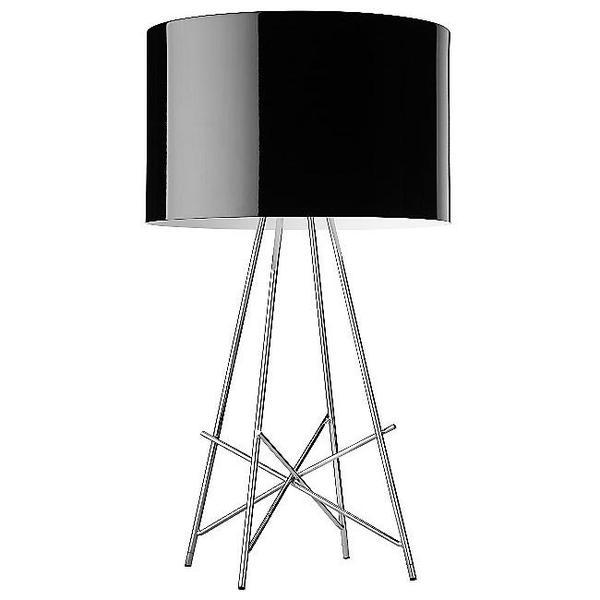 Flos ray t table lamp dimmer black f5911030m lamparas de for Flos ray t table lamp