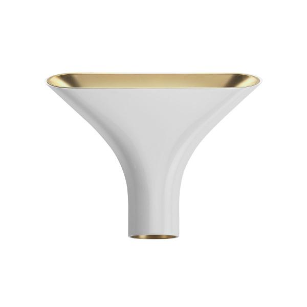 Wall Lamps Indoor : Flos Tau Wall Lamp Outdoor white/indoor Gold F6541009