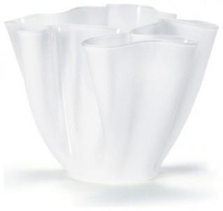 Imagen 1 de Cartoccio Jarrón 15cm Cristal Satinado blanco