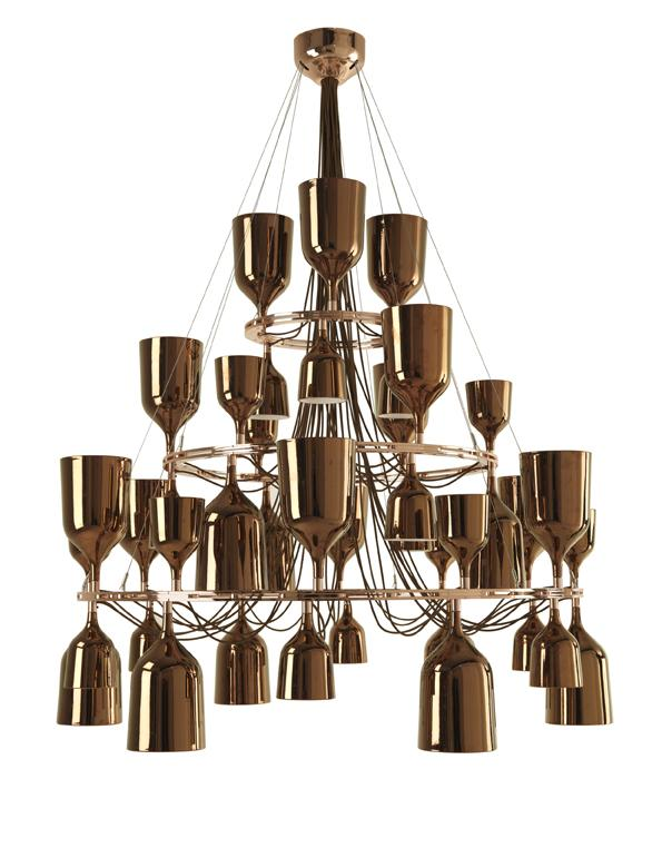 Imagen 1 de Copacabana Queen 12.6.3 Pendant Lamp E27 42x18w porcelain Copper