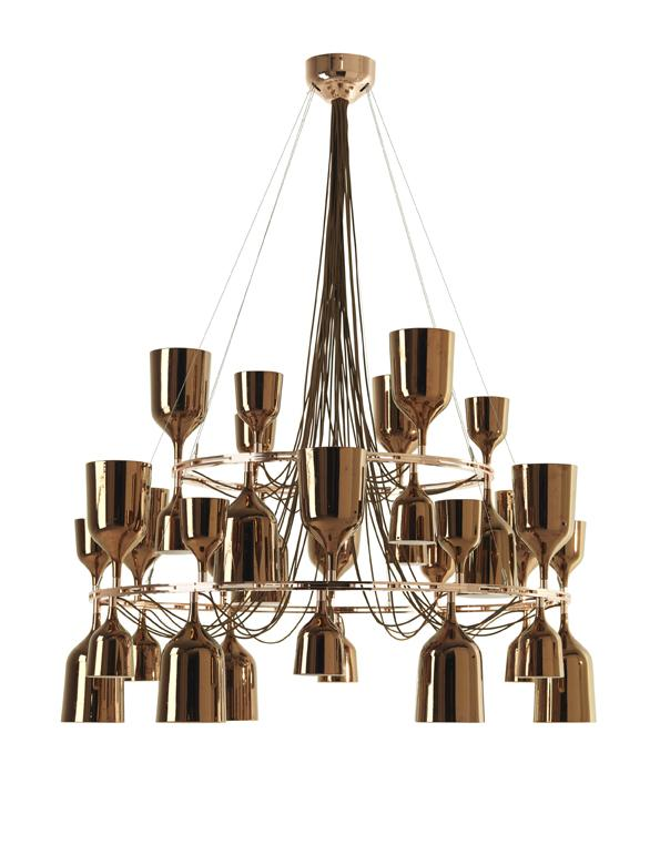 Imagen 1 de Copacabana Queen 12.6 Pendant Lamp E27 36x18w porcelain Copper