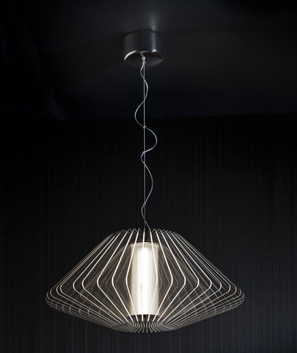 Imagen 1 de Cross Lámpara colgante LED 22W ø57x29cm - Transparente y cromo